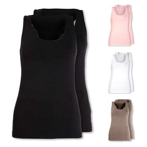 2er Pack Skiny Damen Tank Top Love it 081628 36 38 40 42 in rosa