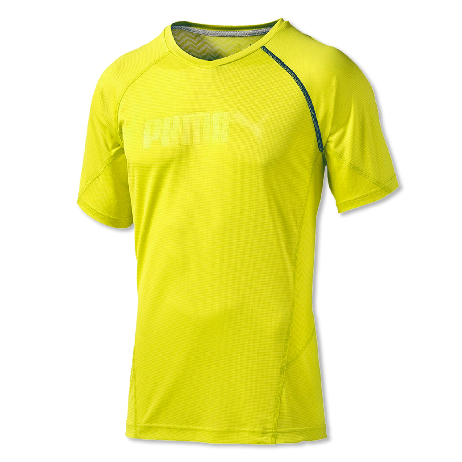 Puma Funktionsshirt kurzarm Cool Embossed T-Shirt 513144 M L XL in sulphur spring vergrößern