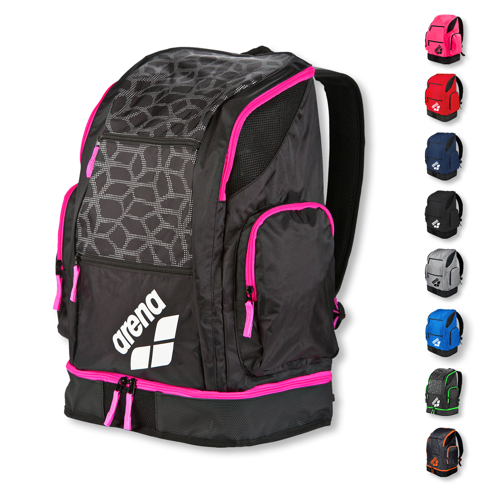 Arena Spiky 2 large Backpack Rucksack 1E004 in red team
