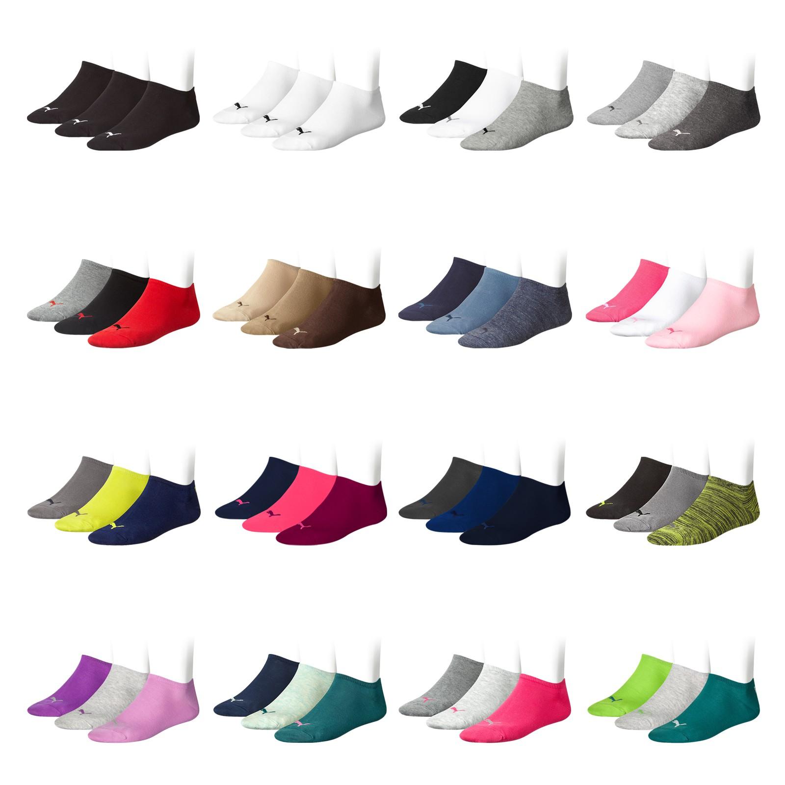 3, 6, 9, 12 Paar PUMA Unisex Invisible Sneaker 251025 in peacoat/sulphur spring