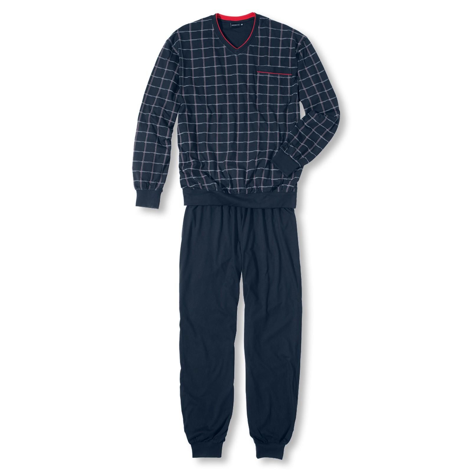 Götzburg Herren Pyjama langarm Antonio 451156 S M L XL XXL 3XL in navy
