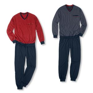 Detailbild Götzburg Herren Pyjama Alan 451381 S M L XL XXL 3XL in chili pepper