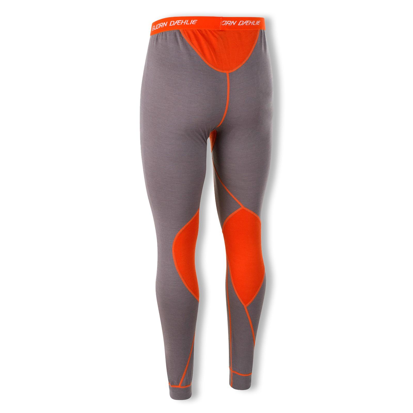 Björn Daehlie Herren Unterhose Skiunterhose Baselayer Pants Warm 320943 M L XL in shark/tangerine tango