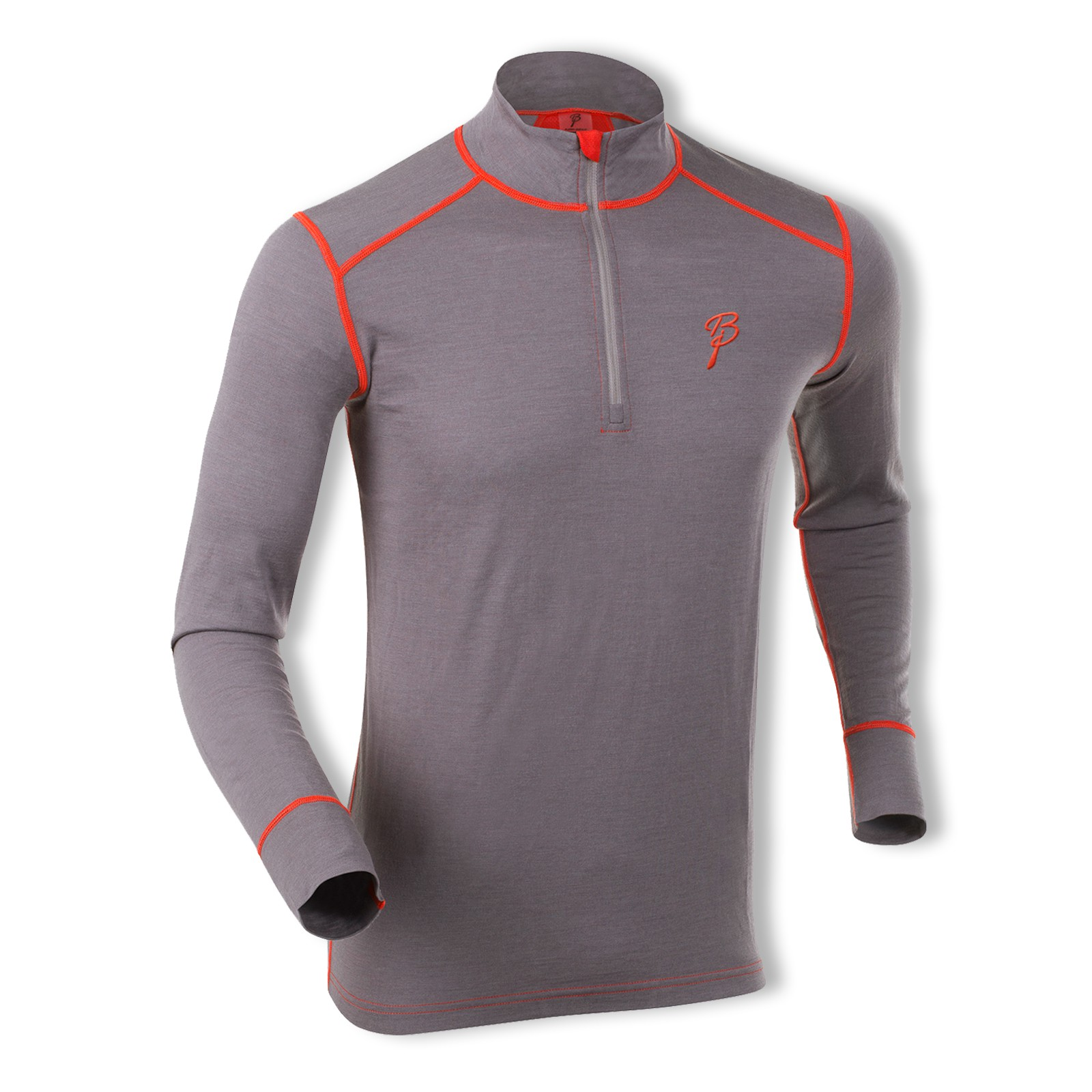 Björn Daehlie Herren Funktionsshirt Langarmshirt Shirt Half Zip Warm 320941 M L XL in shark