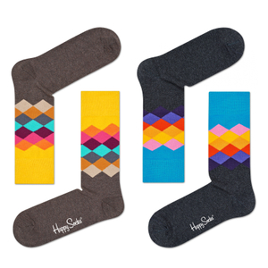 HAPPY SOCKS Socken Strümpfe Faded Diamond - Farbwahl