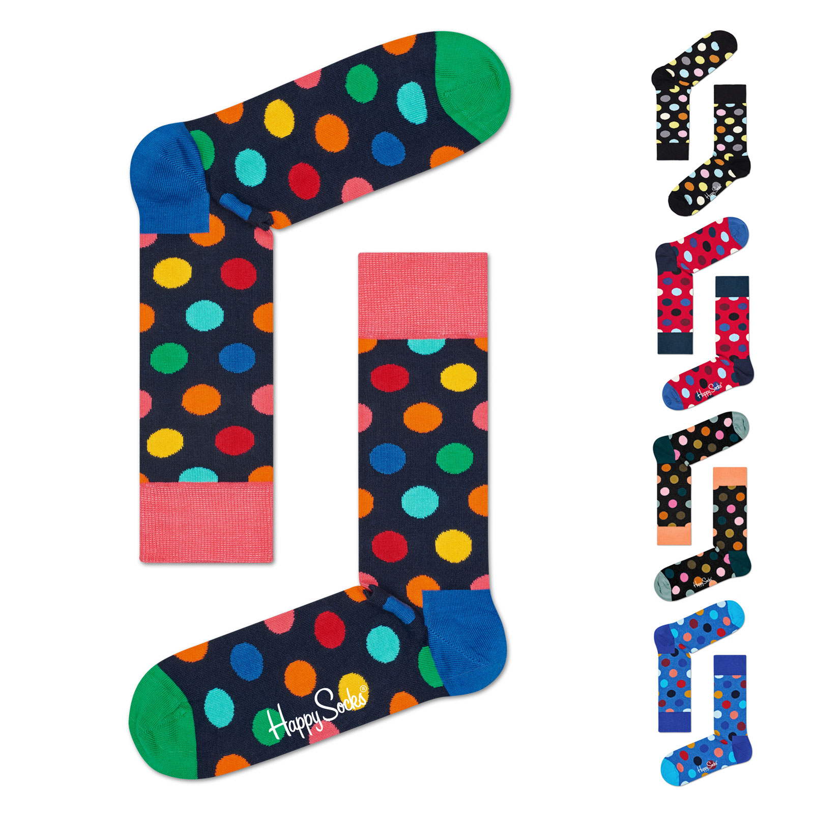 Happy Socks Unisex Socken Strümpfe Big Dot BDO01 36/40 41/46 in multi petrol vergrößern