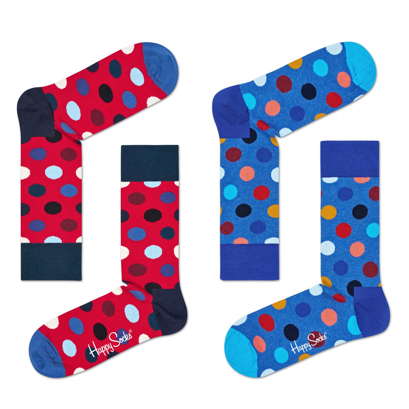 Happy Socks Unisex Socken Strümpfe Big Dot BDO01 36/40 41/46 in blau