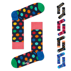 Happy Socks Socken Strümpfe Big Dot unisex Farbwahl 001