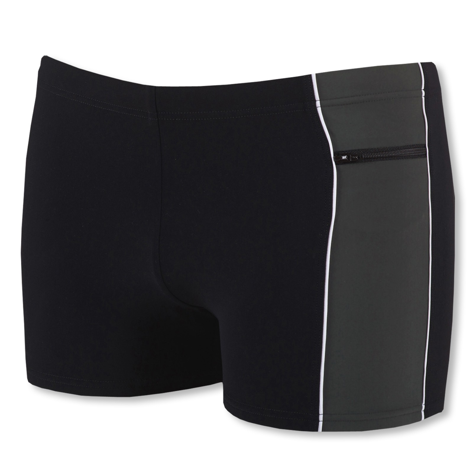 Arena Herren Sensitive Panel Badehose 1B137 M L XL XXL in black/asphalt/white