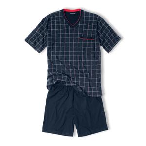 Götzburg Herren Pyjama Set Schlafanzug Shorty Antonio S M L XL XXL 3XL 001