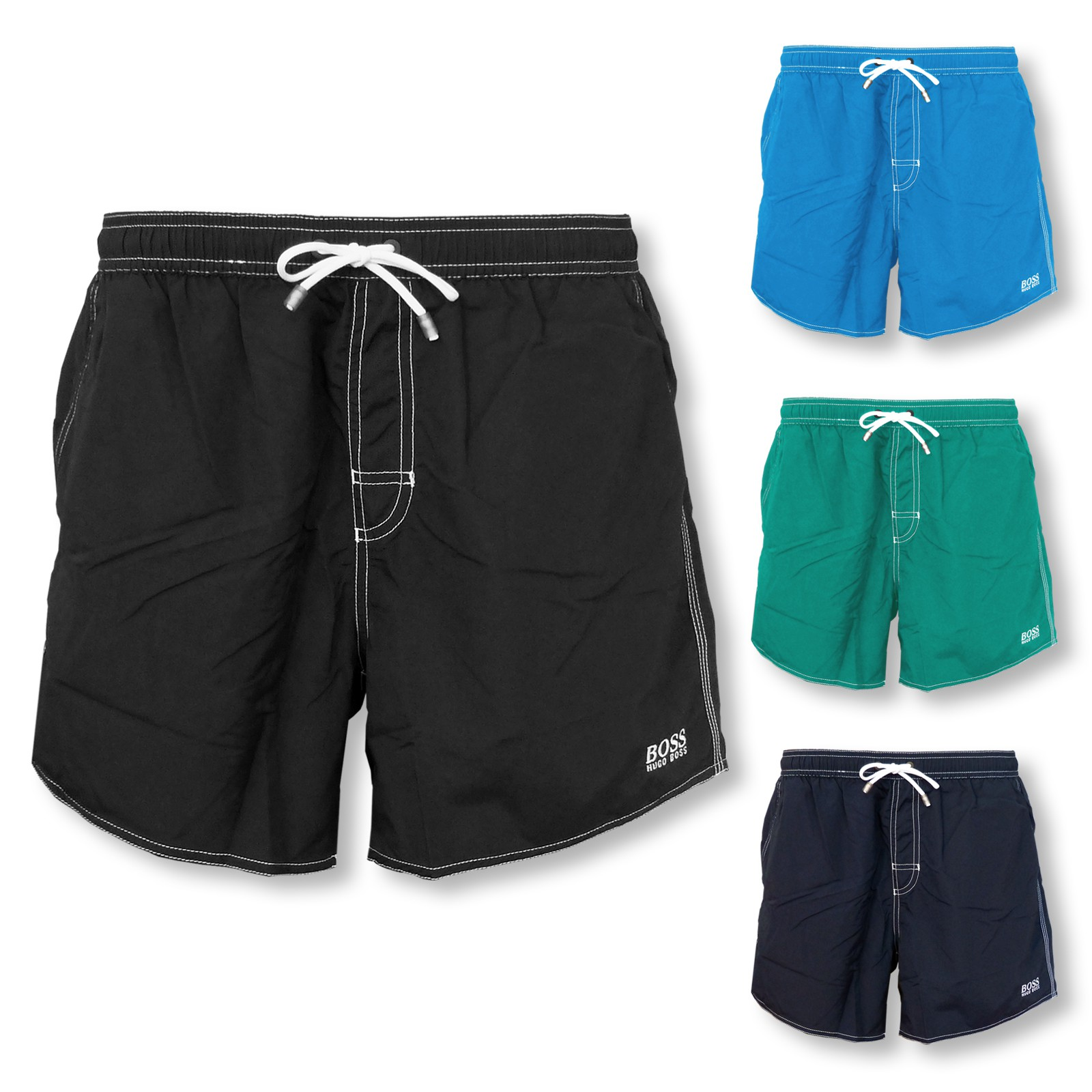HUGO BOSS Herren Badeshorts Badehose Lobster in pastel blue