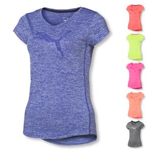 Detailbild PUMA Damen Heather Cat Tee Performance Shirt 514121 in fluro peach