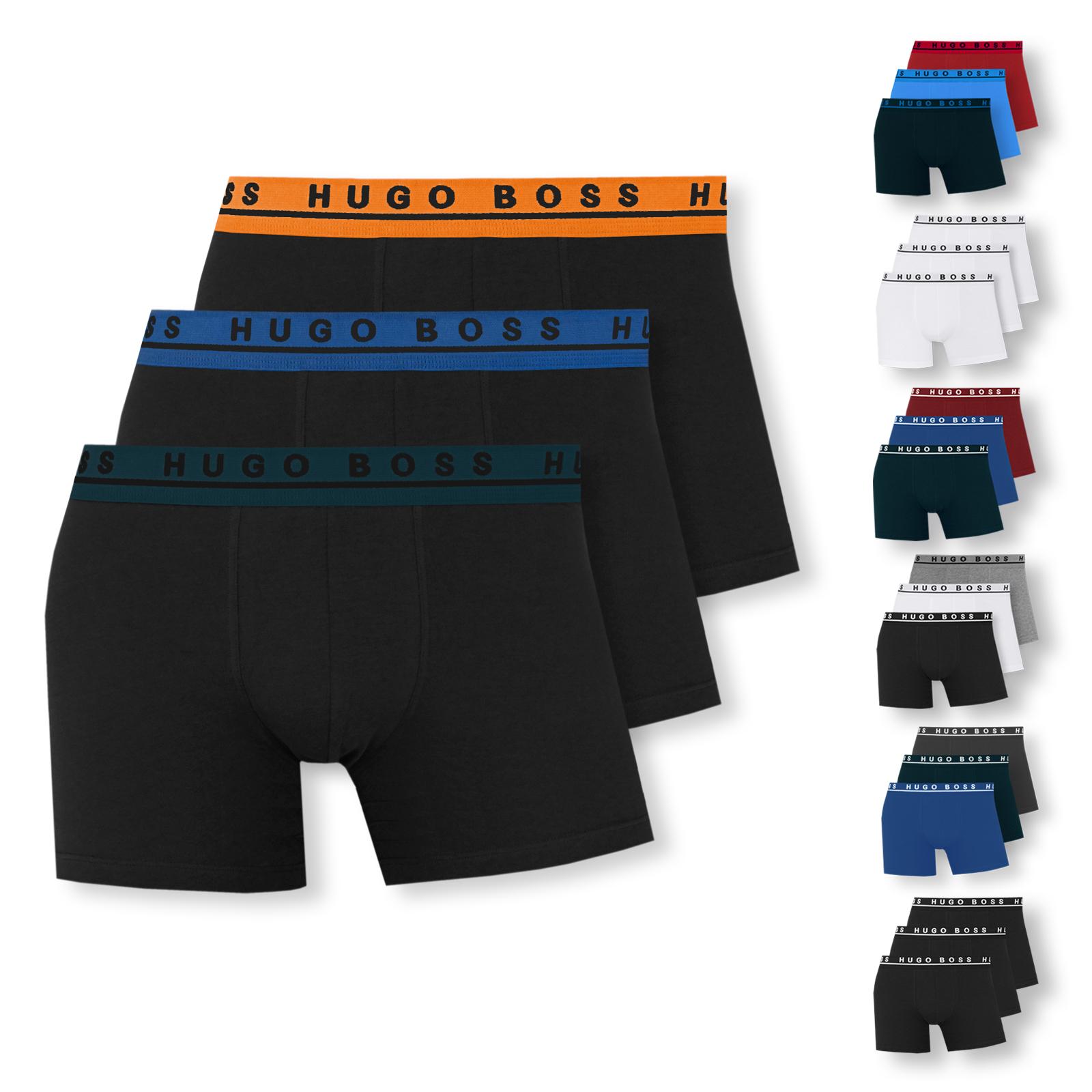 3er oder 6er Pack Hugo Boss Herren Boxer Boxershorts long S M L XL XXL in open blue