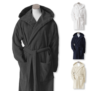 Marc O'Polo Bademantel mit Kapuze Saunamantel Bathrobe Timeless Uni S M L XL XXL 001