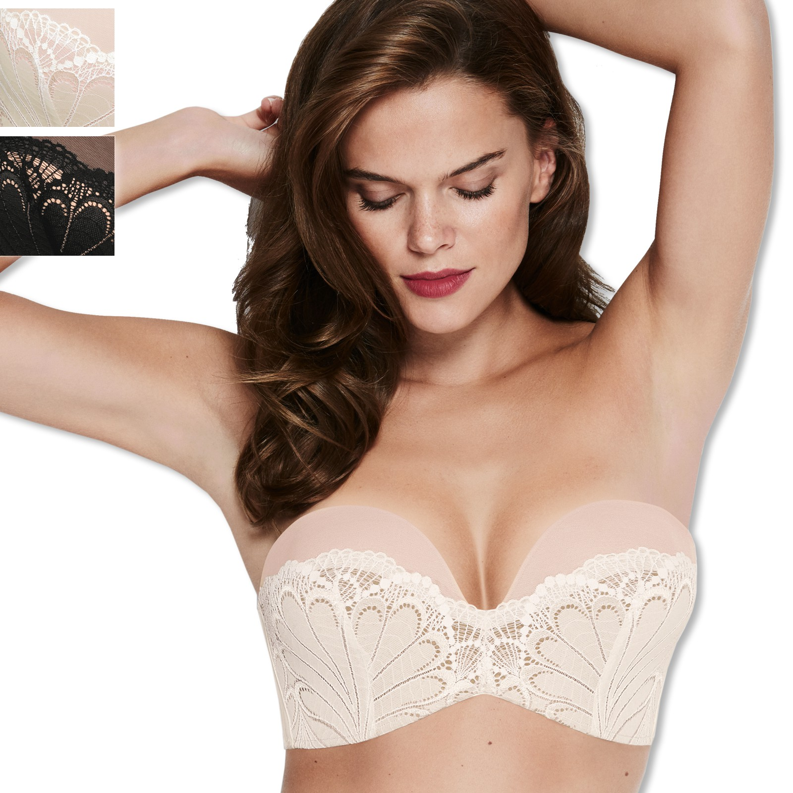 Wonderbra Perfect Strapless Lace BH 70-85 A-D 8662 in ivory