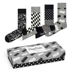 4 Paar Happy Socks Socken Strümpfe Geschenkbox Gift Pack Optic 001