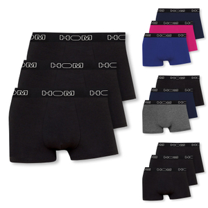 Detailbild 3er Pack HOM Business Boxershorts Boxer Brief Boxerlines 400389 in schwarz