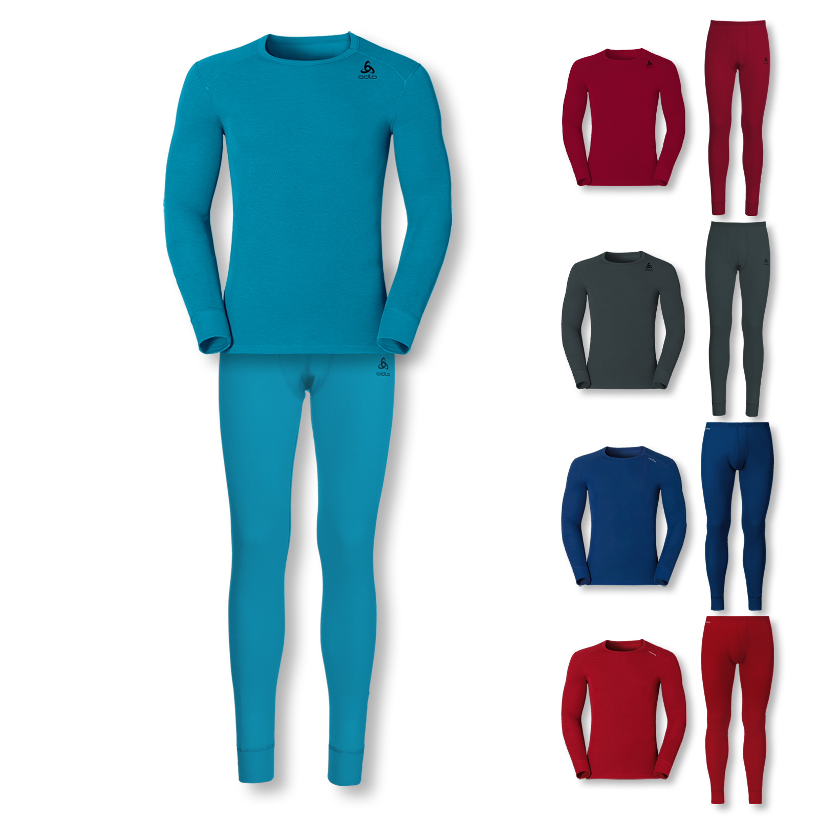 Odlo Herren Skiunterwäsche Set Thermounterwäsche WARM S M L XL XXL in blue jewel vergrößern