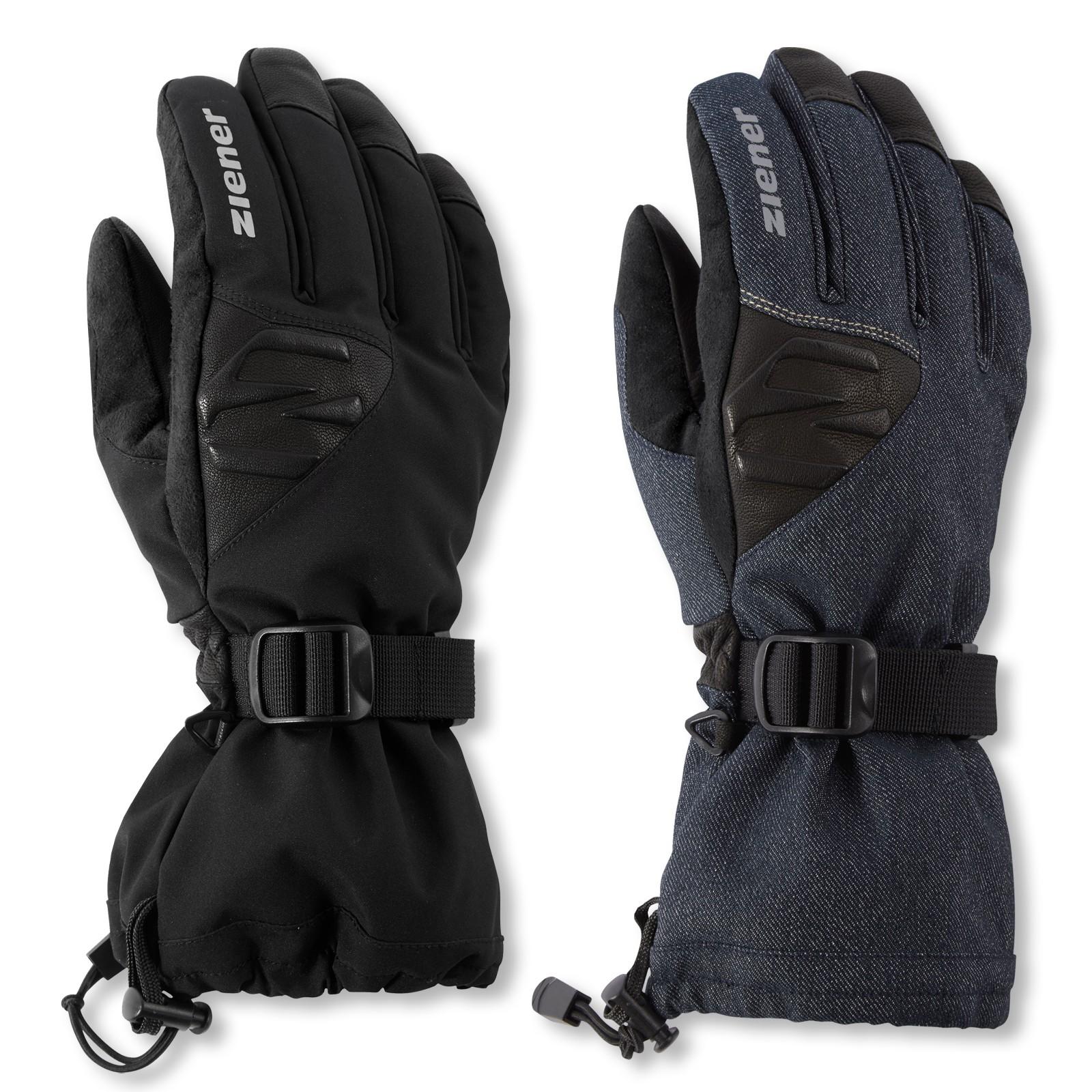 Ziener Herren GOFRIED AS® Ski Alpine Fingerhandschuhe Handschuhe in denim