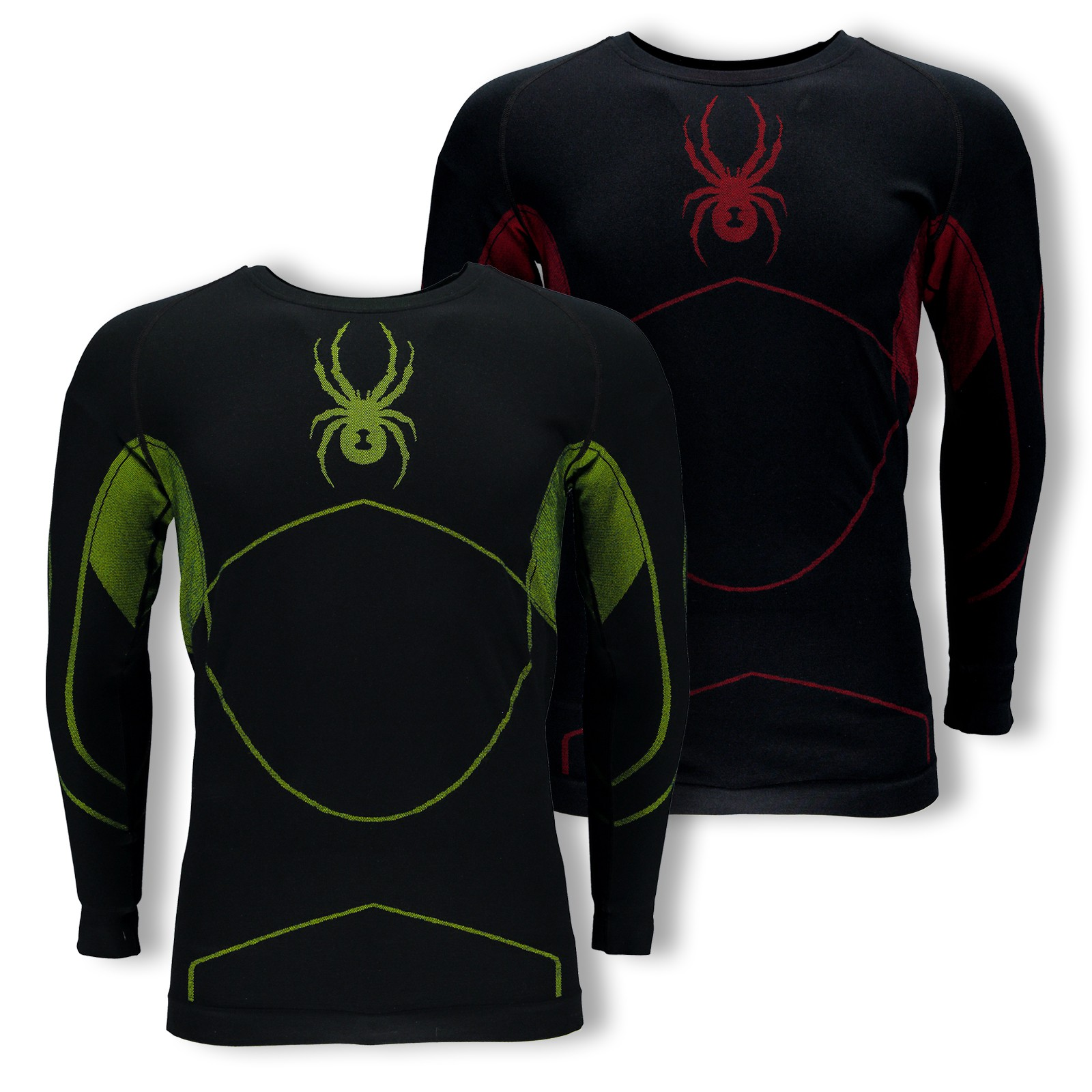 Spyder Herren Skiunterhemd Funktionsshirt langarm Structure (Boxed) 626702 in black/red vergrößern