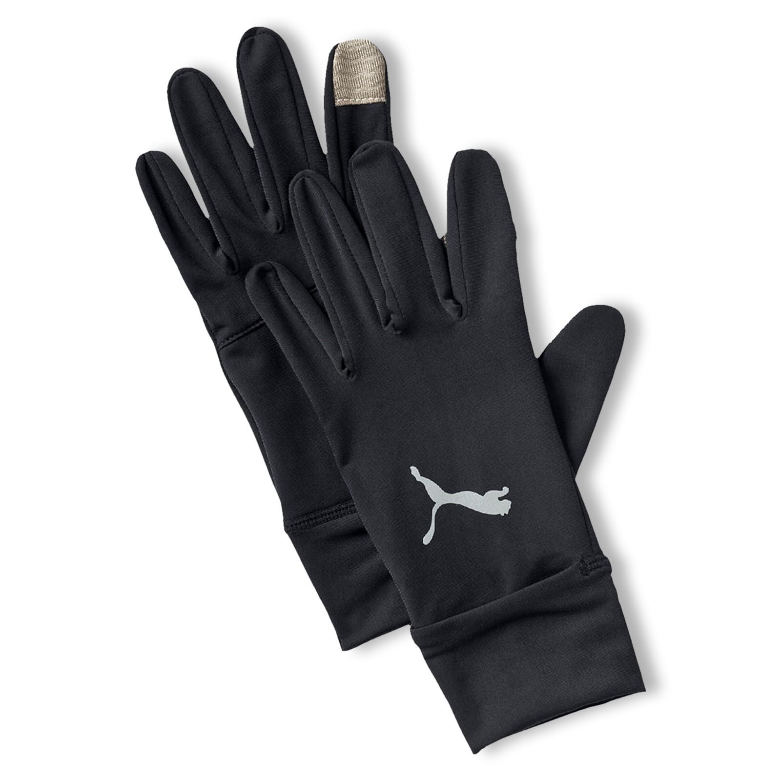 PUMA Running Unisex Performance Handschuhe Touchscreen Fingerhandschuhe S M L 041267 in schwarz