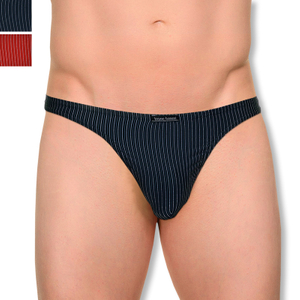 Detailbild bruno banani String Tanga Kingdom M L XL in schwarz stripes