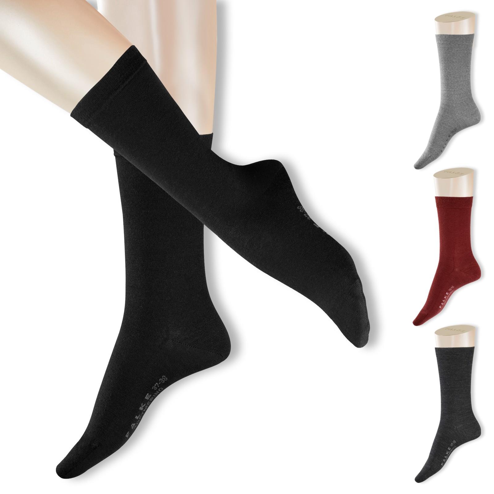 FALKE Softmerino Damen Socken Strümpfe 47488 in garnet