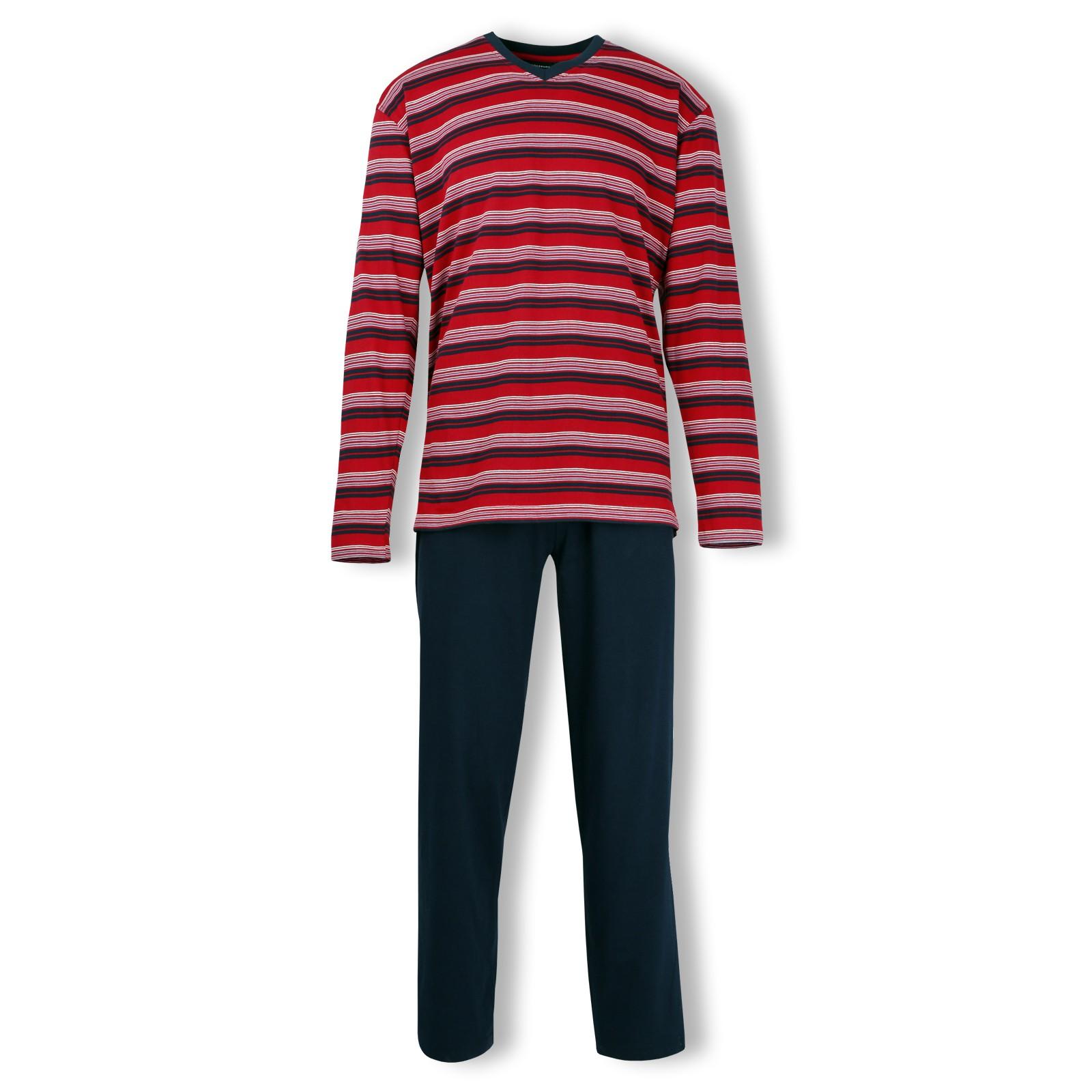 Götzburg Herren Pyjama Schlafanzug langarm Klima Aktiv S M L XL 2XL 3XL 4XL 451635 in chili-blue