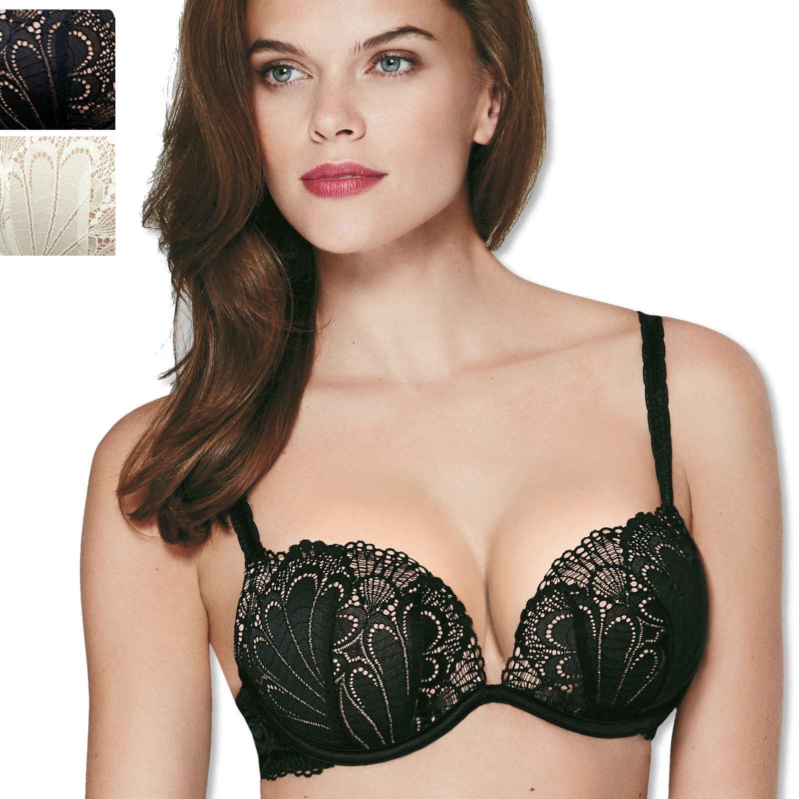 Wonderbra Full Effect Lace BH 70-85 A-C 8626 in ivory