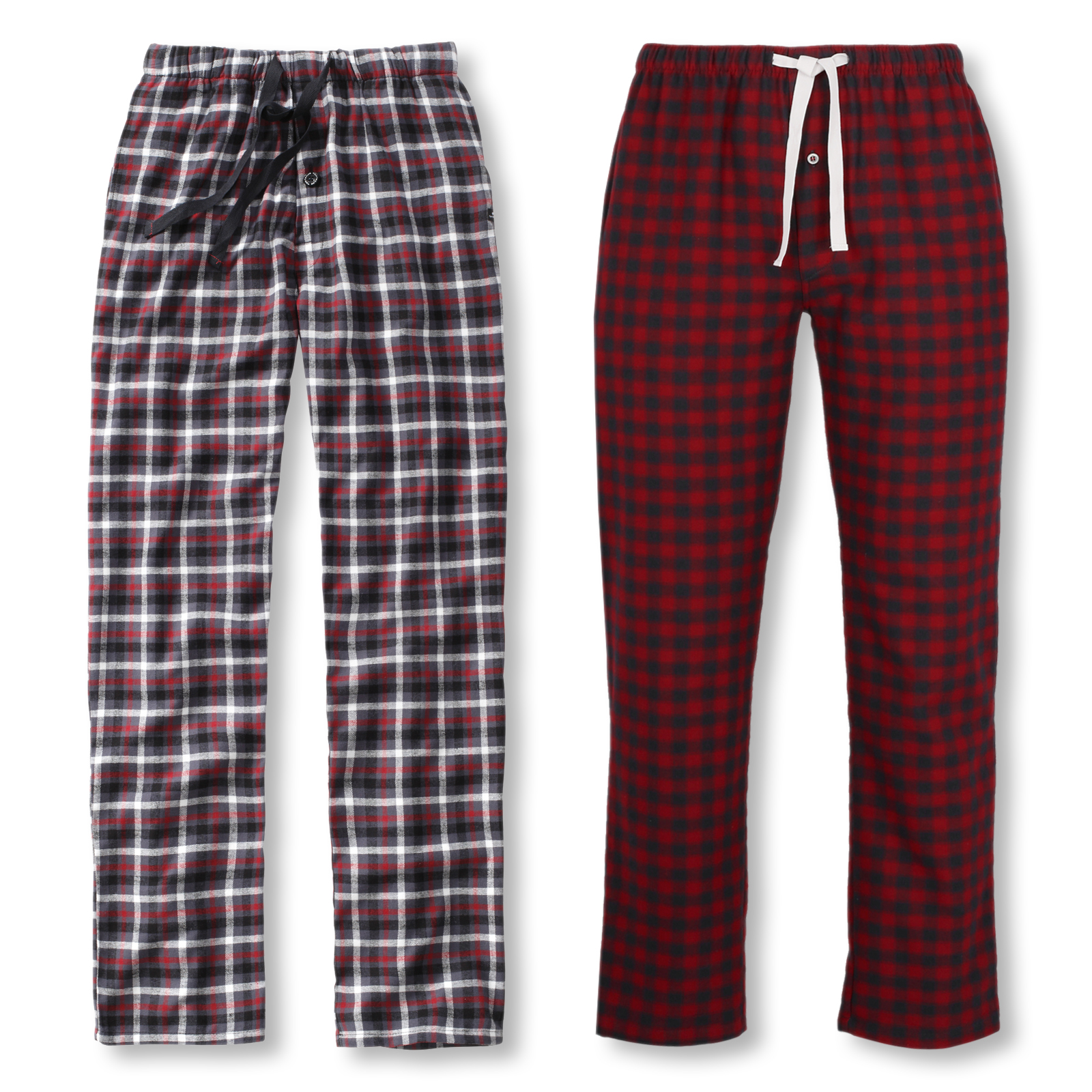 Tom Tailor Herren Flanell-Pyjamahose lang Homewear Schlafanzug Hose in red checked