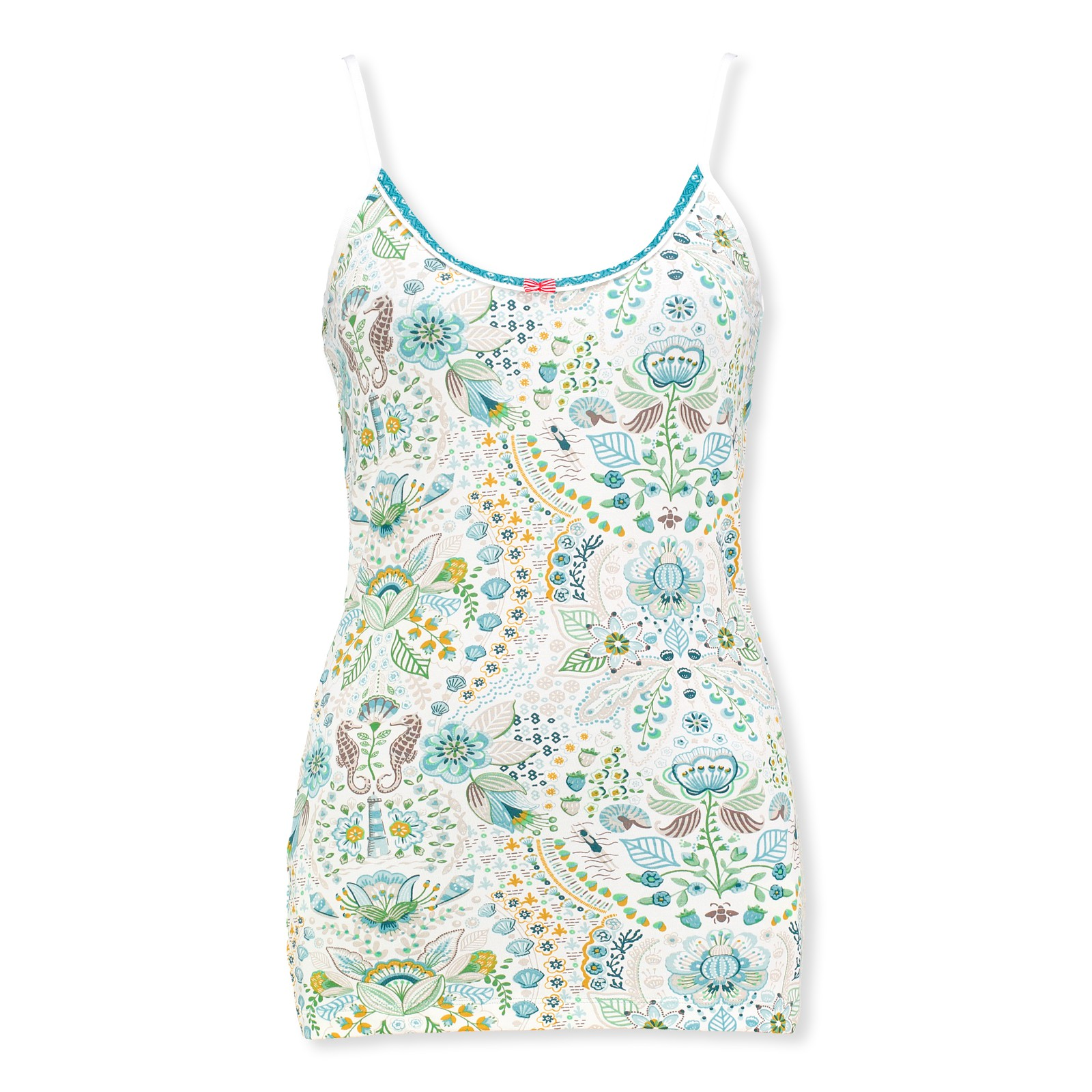PiP Studio Damen Top sleeveless Pyjama Oberteil Spaghettiträger Tom Sea Stitch S M L XL 260560 in blue vergrößern