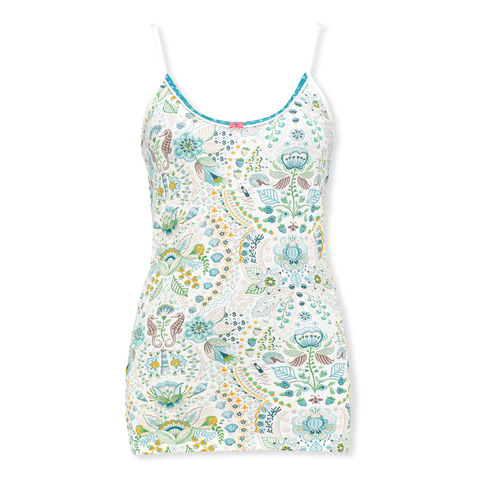 PiP Studio Damen Top sleeveless Pyjama Oberteil Spaghettiträger Tom Sea Stitch S M L XL 260560 in blue