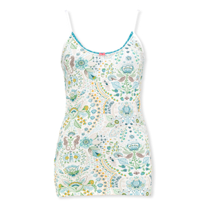 Detailbild PiP Studio Damen Top sleeveless Pyjama Oberteil Spaghettiträger Tom Sea Stitch S M L XL 260560 in blue