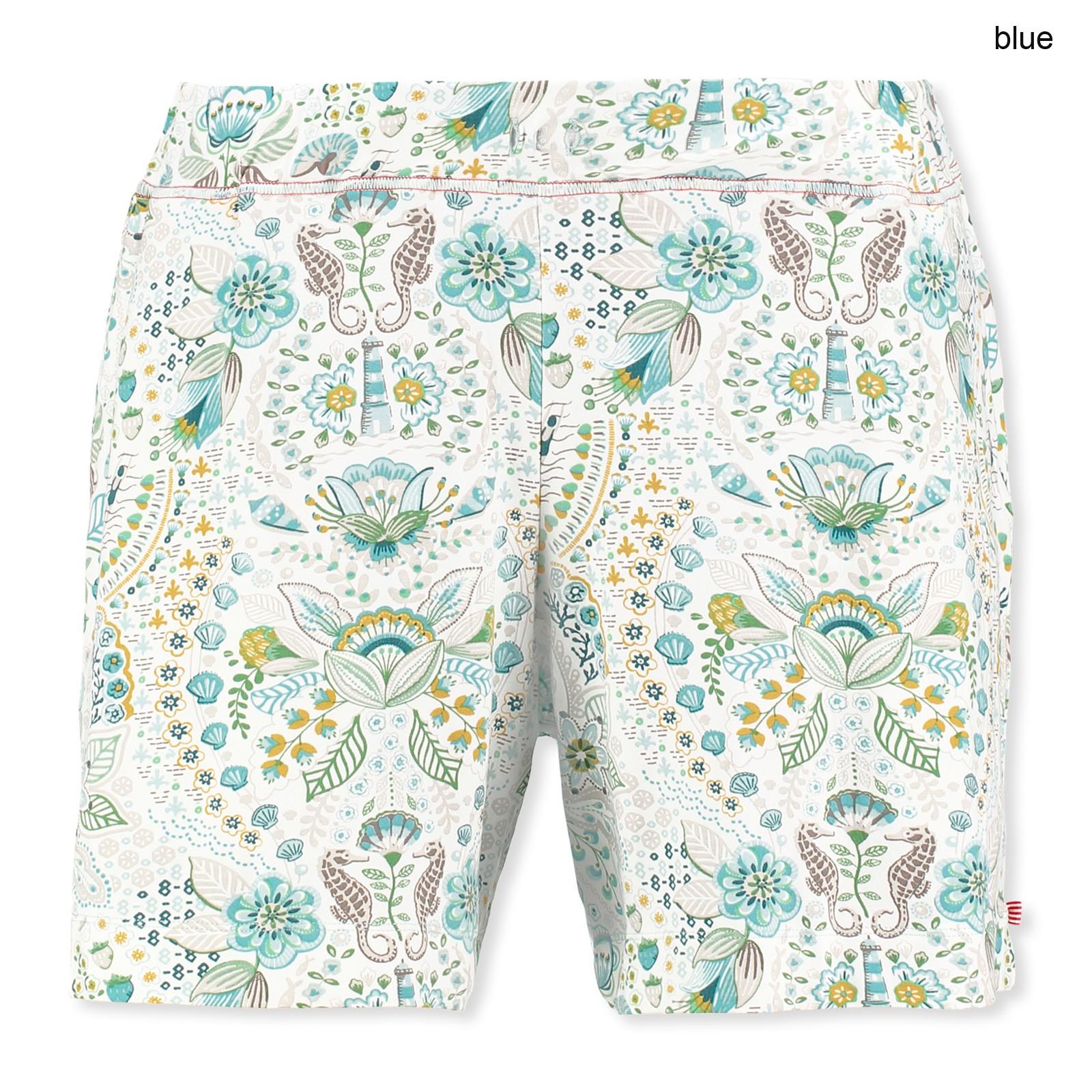 PiP Studio Damen Pyjama Hose kurz Bob Sea Stitch S M L XL 260553 in blue