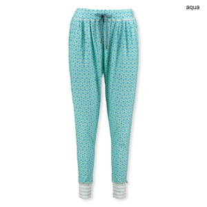 Detailbild PiP Studio Damen Pyjamahose lang Billy Buttons up 260556 S M L XL in aqua