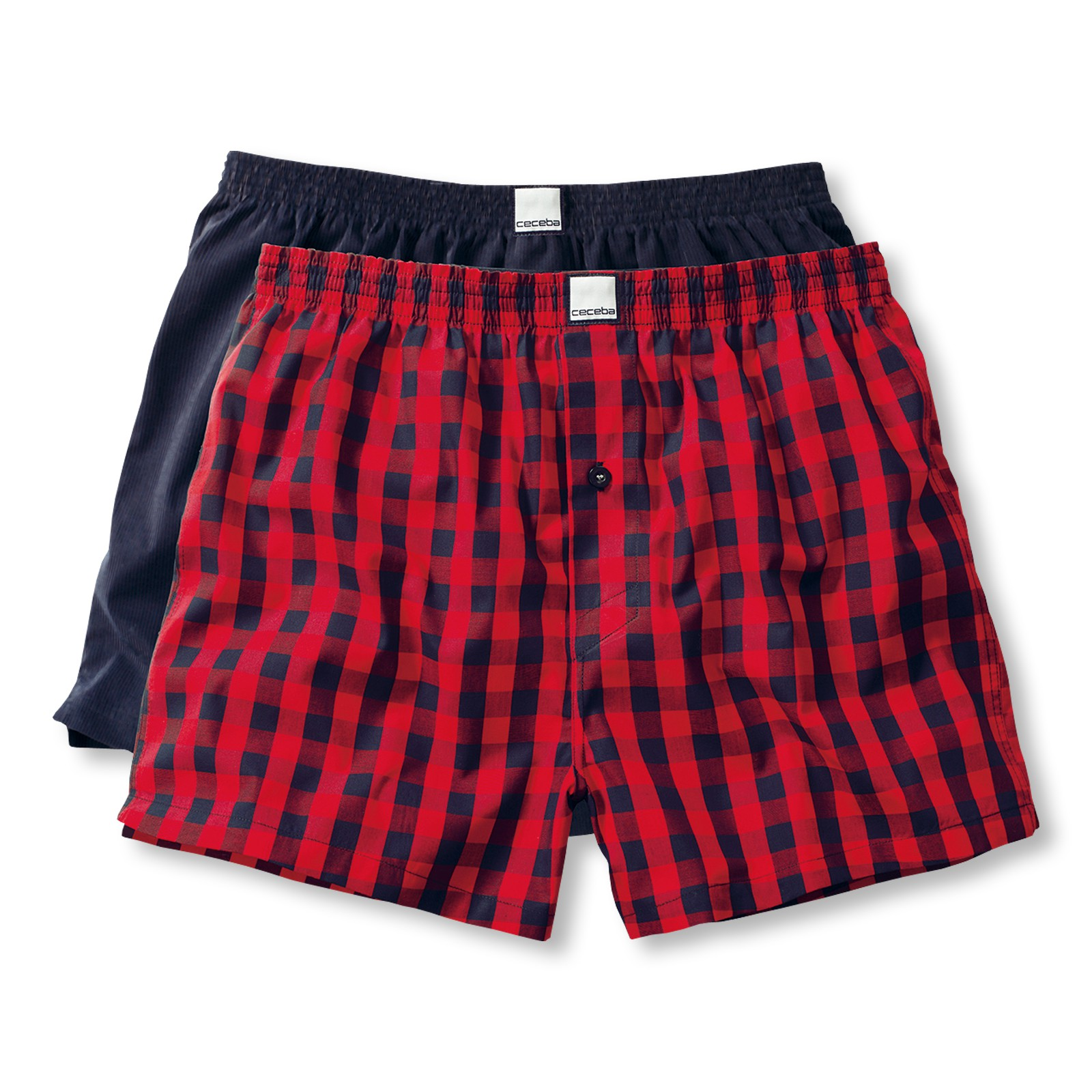 2er Pack Ceceba Herren Webboxer 20524 in red-medium check