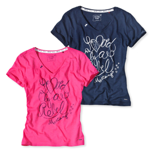 Detailbild Mustang Damen T-Shirt Short Sleeve S M L XL 8547-2100 in navy