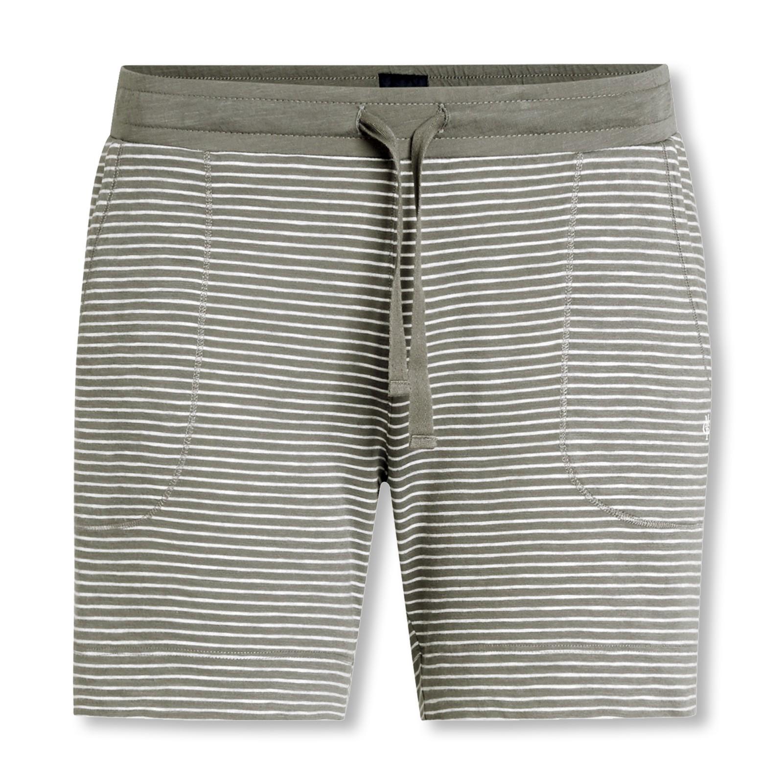 Marc O'Polo Damen Pyjamahose Shorty Schlafanzughose kurz 152767 S M L XL in olivgreen