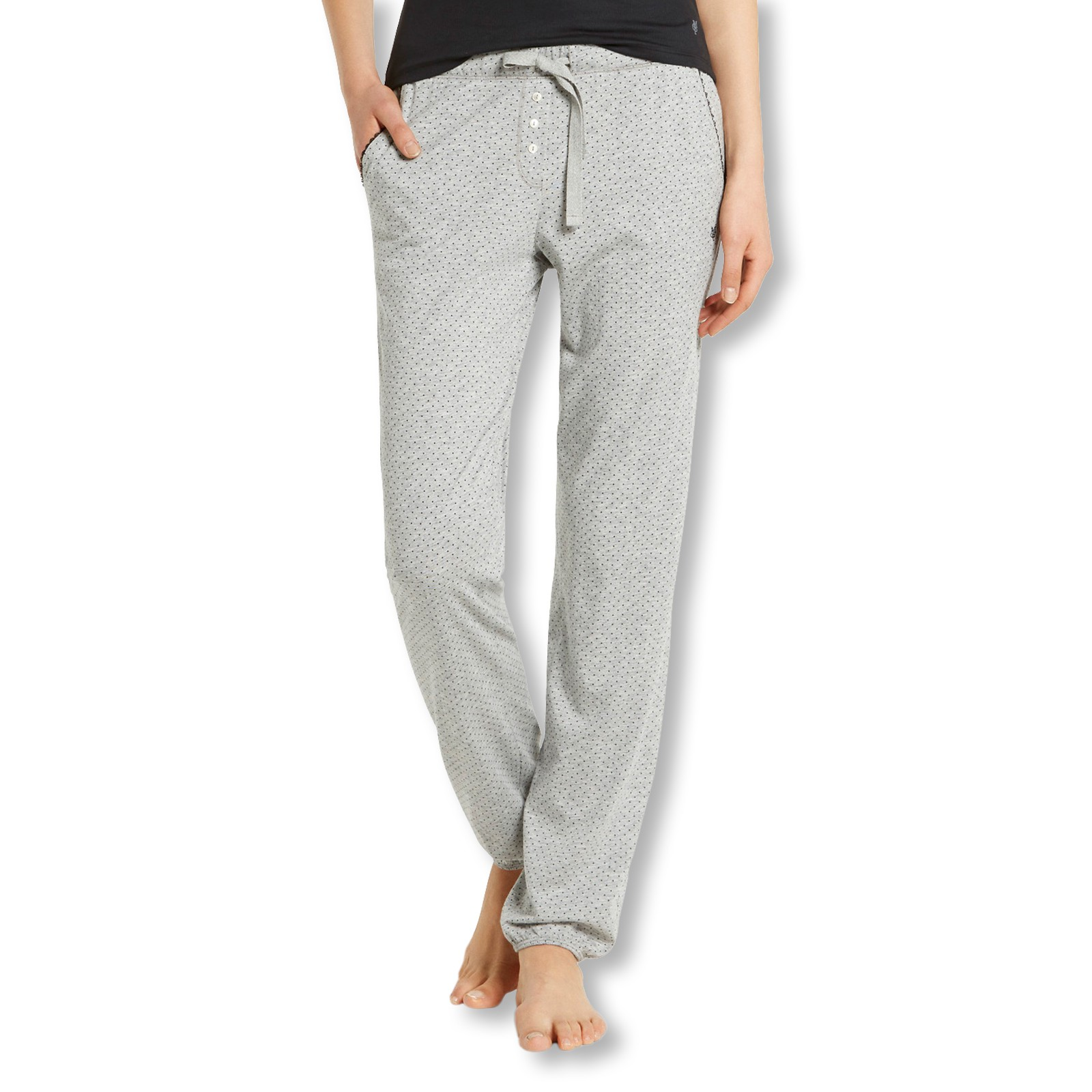 Marc O'Polo Damen Pyjamahose Schlafanzughose Pants lang 154554 S M L XL in grey melange