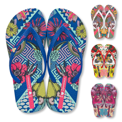 Ipanema Zehentrenner I Love Tribal 82034 in white/red