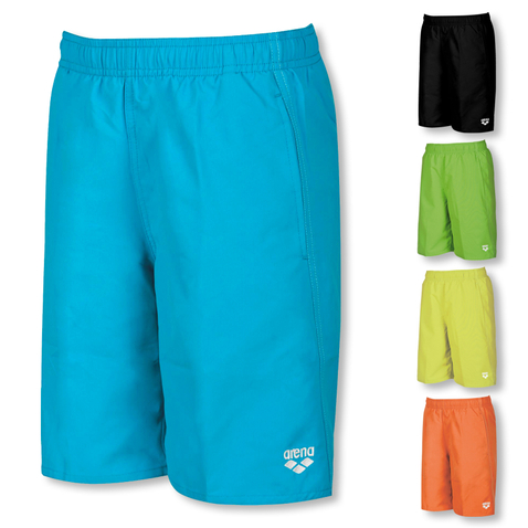 Arena Jungen Badeshorts Fundamentals JR Long Bermuda 1B360 128 140 152 164 in turquoise / white