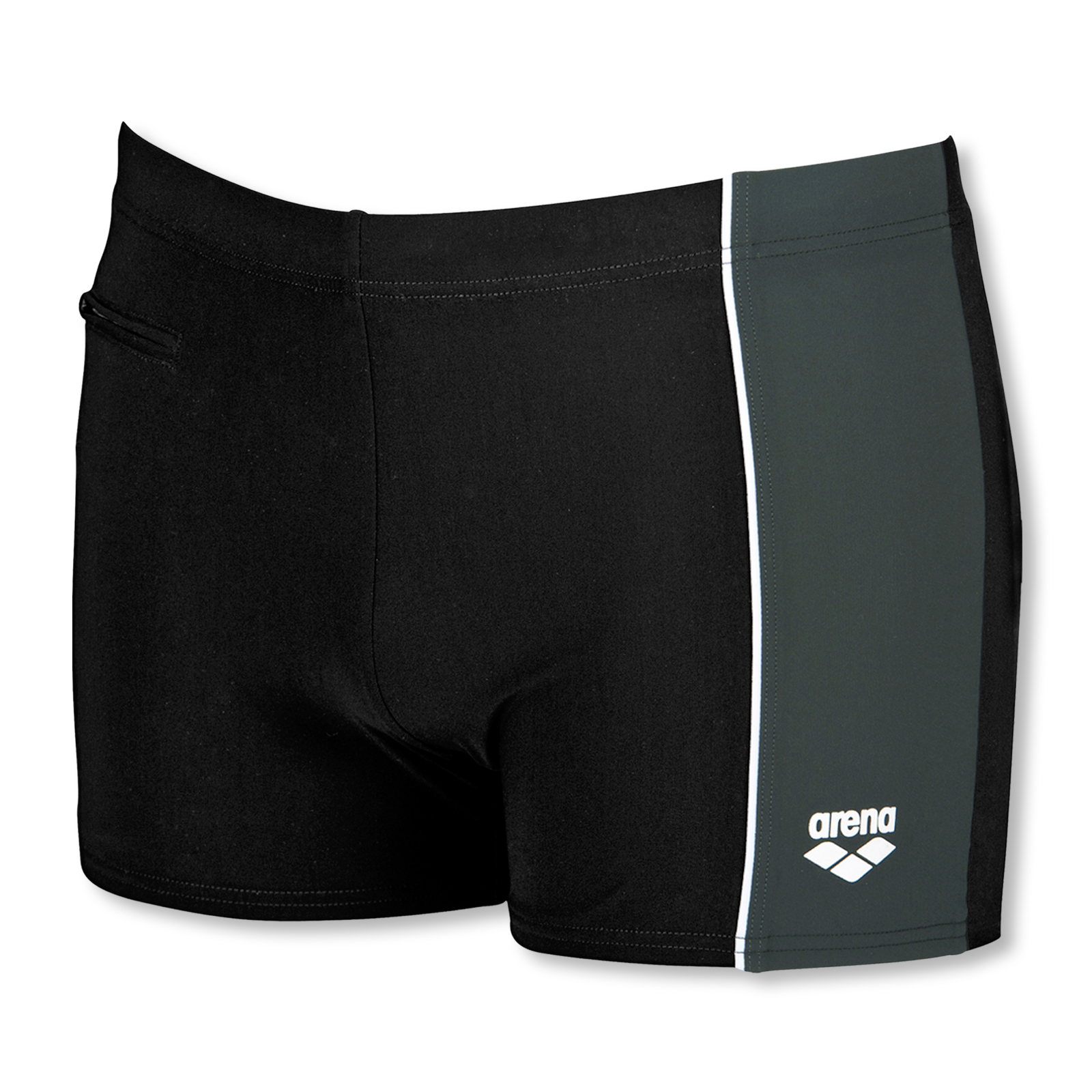 Arena Herren Badehose Sensitive Panel Short 1B306 M L XL 2XL 3XL in black / asphalt / white
