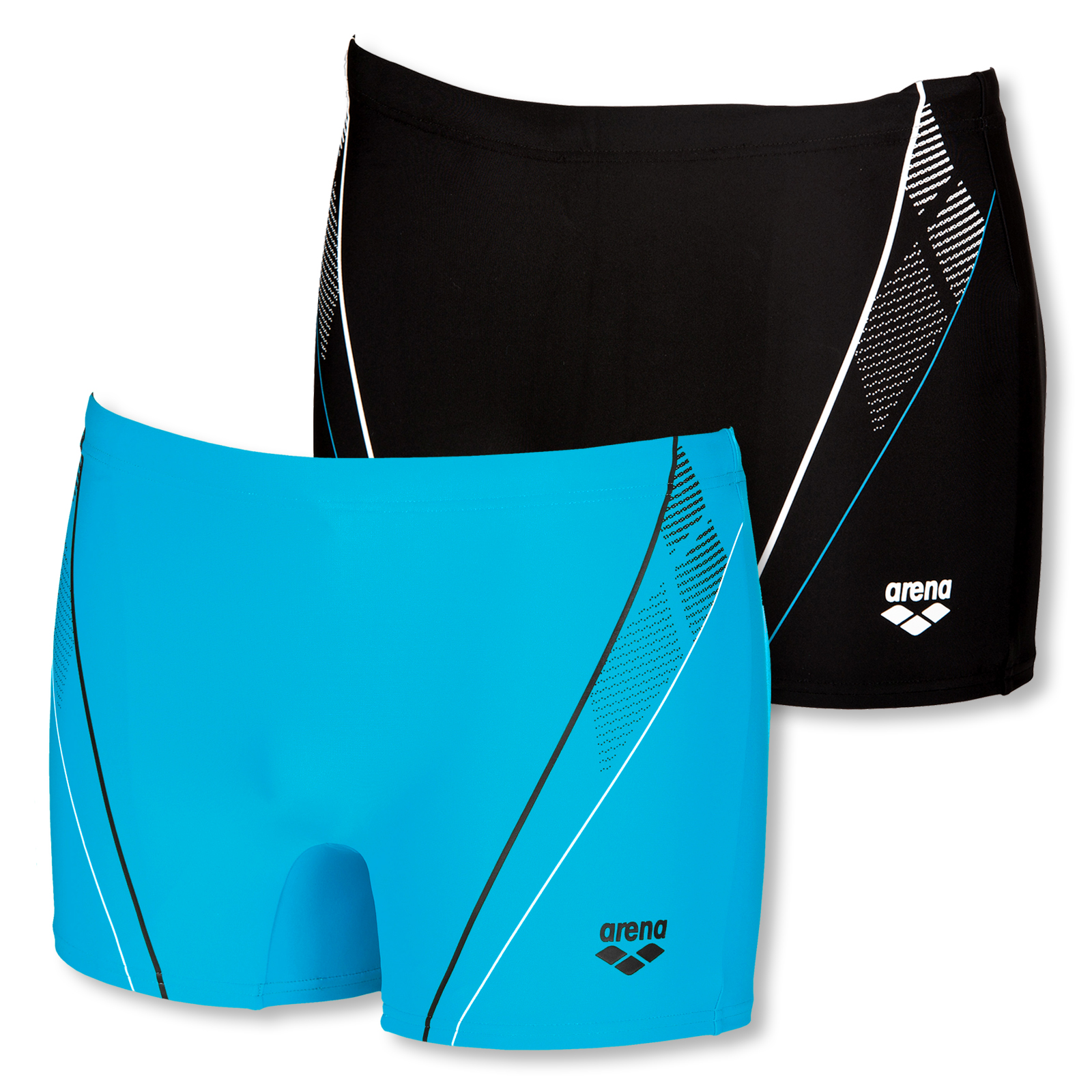 Arena Herren Badehose Skid Short 2A233 S M L XL 2XL 3XL in black / turquoise / white