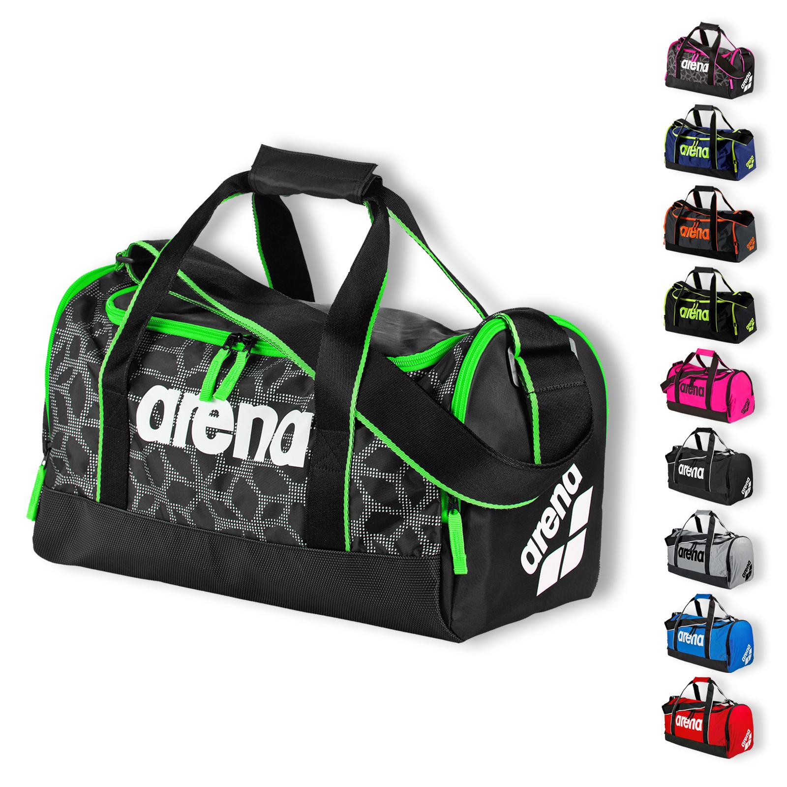 Arena Spiky 2 Medium Pool Bag Sporttasche Schultertasche 1E006 in black x-pivot/fuchsia