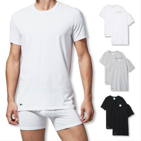 Lacoste 2er Pack T-Shirts C-Neck Colours 148321 M L XL XXL in grey melange