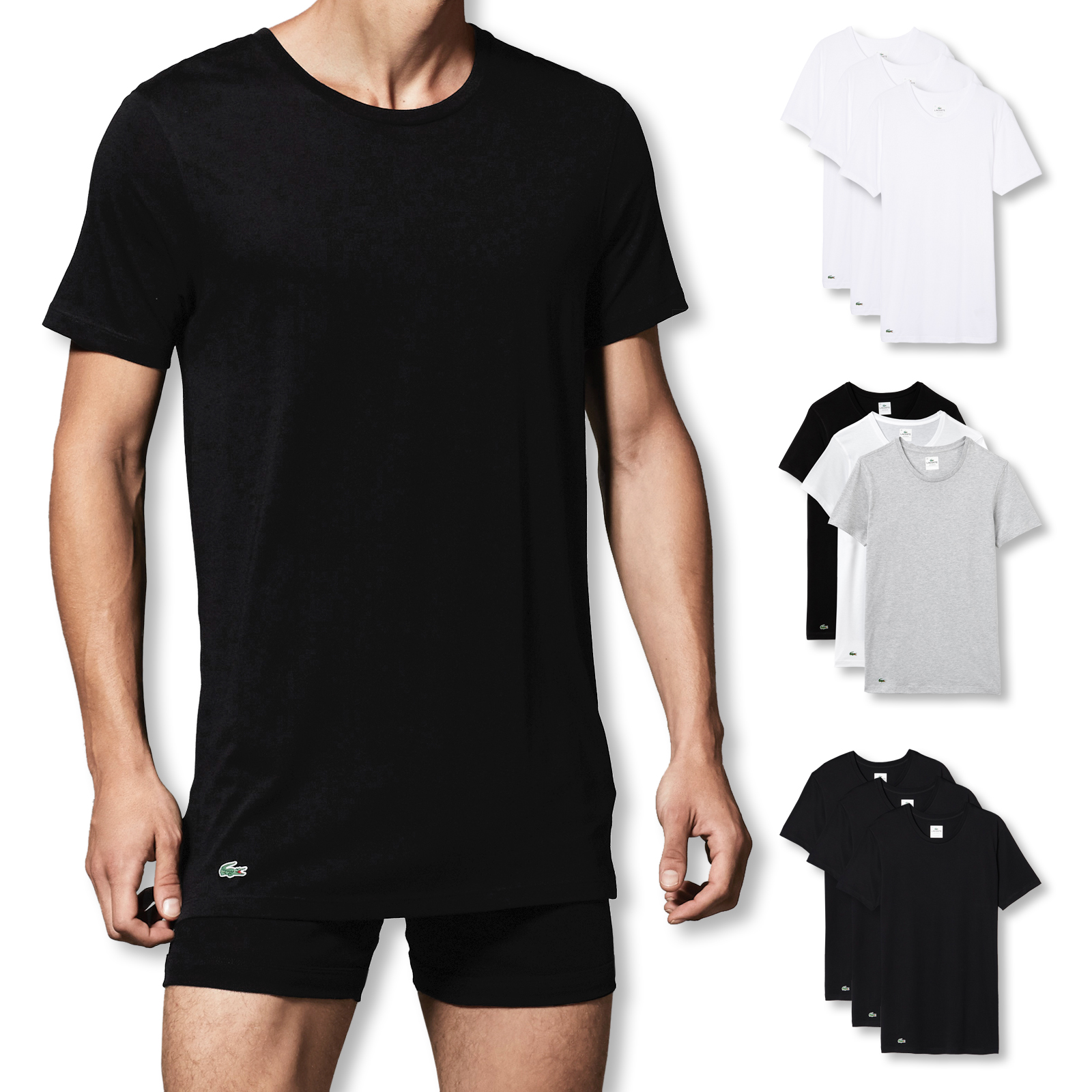 Lacoste 3er Pack T-Shirts C-Neck Essentials150998 M L XL in core multi vergrößern