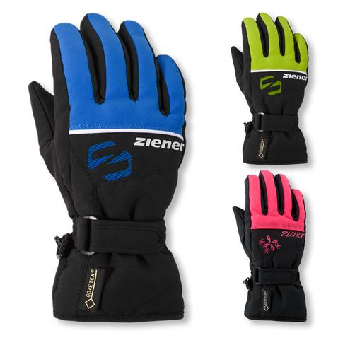 Ziener Skihandschuhe LABER GTX® glove Junior in black / pop pink