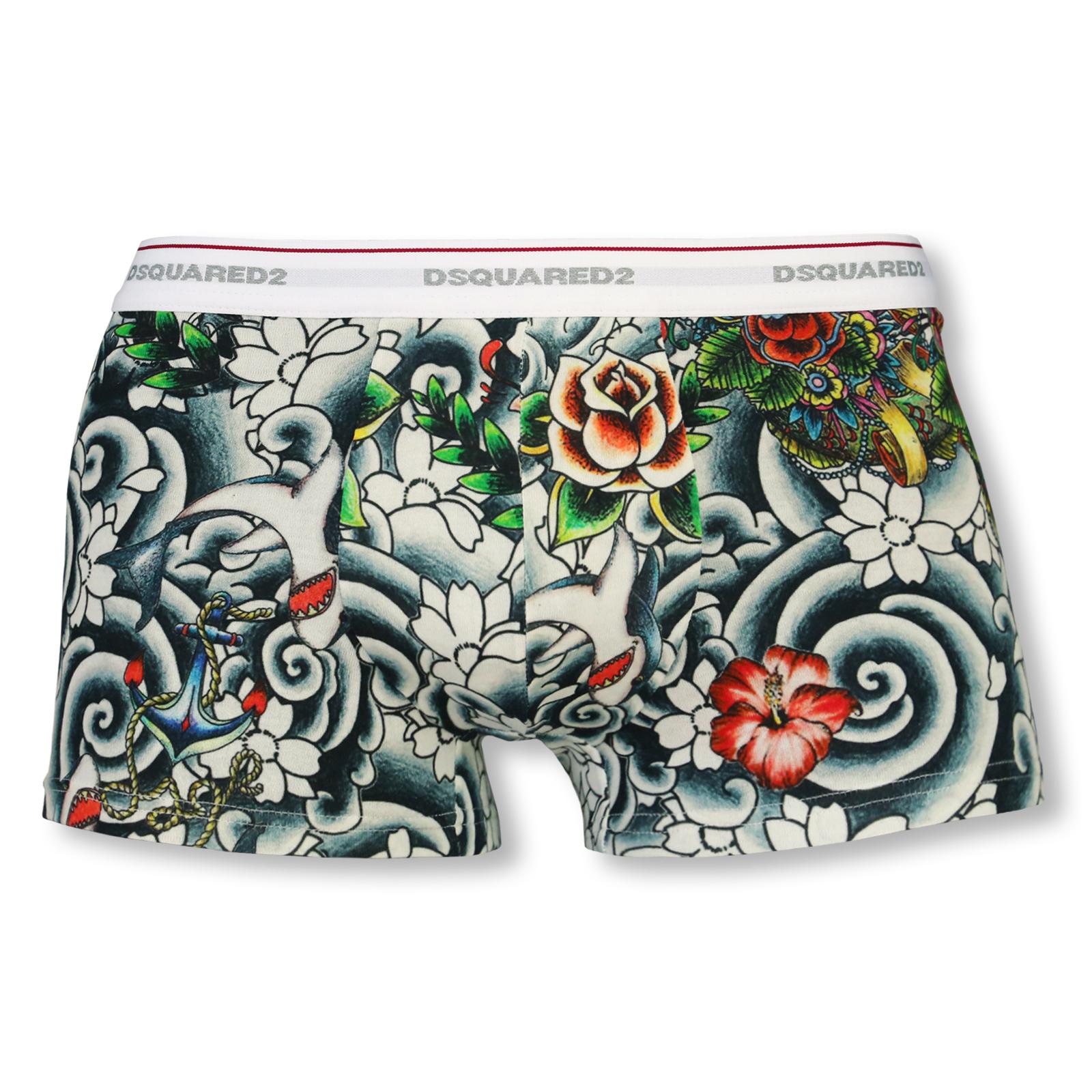 Dsquared2 Shorts Pants Trunks Unterhose M L XL D9LC71400 in print
