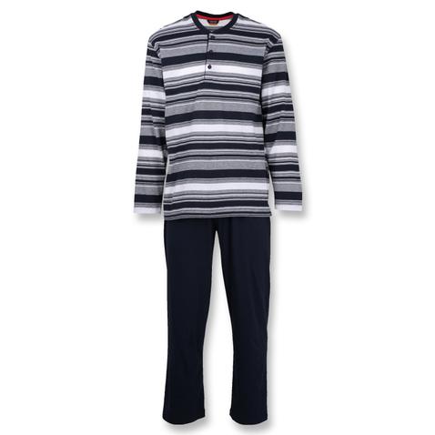 Ceceba Herren Pyjama Schlafanzug langarm Klima Aktiv 30556 in navy