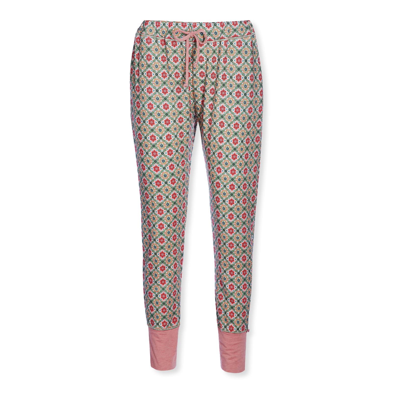 PiP Studio Damen Pyjamahose lang Bobien Double Check 260601 in pink
